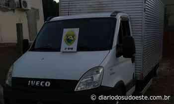 Polícia Militar recupera caminhão carregado com cigarros - Diário do Sudoeste