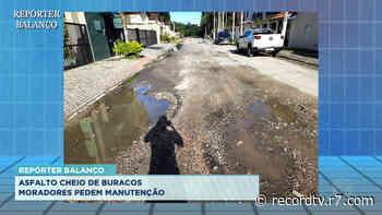 Repórter Balanço: asfalto esburacado em Ubatuba - Record TV