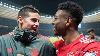 FC Bayern München: James Rodriguez macht sich über Alaba lustig - aber Javi Martinez kontert lässig - tz.de