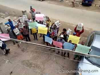 Newspaper vendors protest police intimidation, harassment in Abia - NIGERIAN TRIBUNE
