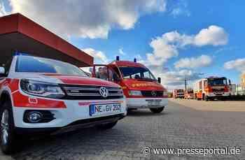 FW Grevenbroich: Feuerwehr löscht Kellerbrand in Neuenhausen / Drei Personen betroffen - Presseportal.de