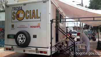 Tráiler de la Tropa Social llegó al barrio San Bernardo - Alcaldía de Bogotá