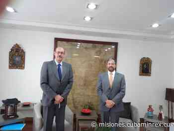 Recibe Canciller del Ecuador, Excmo. Sr Mauricio Montalvo Samaniego, a Embajador de Cuba en Quito, Rafael Dausá Céspedes - Ministerio de Relaciones Exteriores Cubano