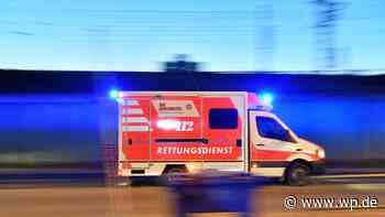 Marsberg: Motorradfahrer stürzt und landet im Graben - Westfalenpost