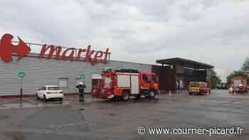 Une partie du toit du Carrefour Market de Breteuil s'effondre à cause des intempéries - Le Courrier picard