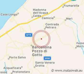 Terremoto in Sicilia, scossa avvertita a Barcellona Pozzo di Gotto [DATI e MAPPE] - MeteoWeb