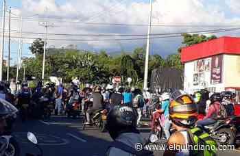 Manifestantes cerraron la vía Armenia – La Tebaida - El Quindiano S.A.S.