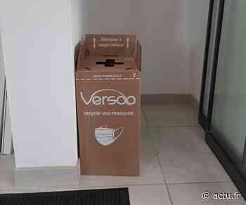 Auterive. Des bacs en carton pour jeter les masques chirurgicaux usagés afin qu'ils soient recyclés - actu.fr