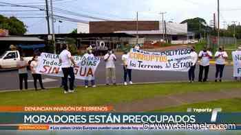 Residentes de La Chorrera realizaron protestas por invasión de terrenos - Telemetro