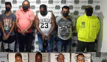 Policía de Bolívar capturó a cuatro sicarios del Clan del Golfo en Arjona - Caracol Radio