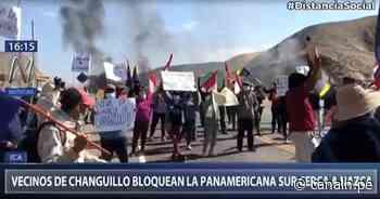 Ica: Vecinos de Changuillo bloquearon la Panamericana Sur cerca a Nazca - Canal N