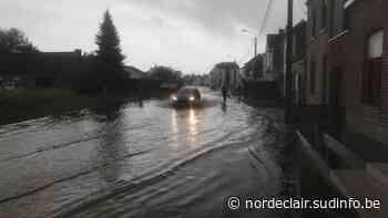 Le cahos rue de Forzeau à Templeuve, le Faisan, à Hertain, les pieds dans l'eau - Sudinfo.be