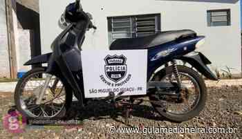 São Miguel do Iguaçu: Polícia Civil recupera motoneta furtada - Guia Medianeira