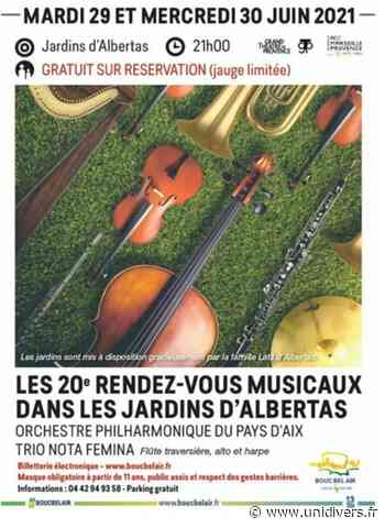 RDV musicaux d'Albertas jardins d'albertas mardi 29 juin 2021 - Unidivers