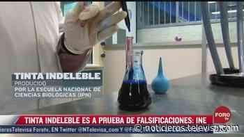 Tinta indeleble del INE no transmite COVID-19 - Noticieros Televisa