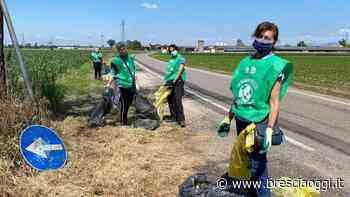 Rifiuto selvaggio Volontari all'opera per Ghedi pulito - Brescia Oggi