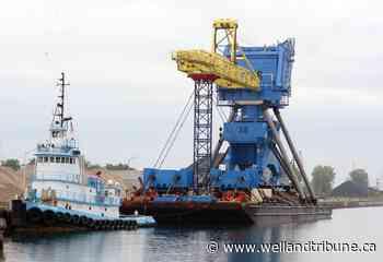 Photos: The Big Blue Crane makes Port Colborne stop - WellandTribune.ca