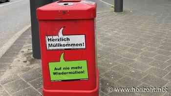 Guerilla-Marketing: Chimpy kapert zum Weltumwelttag die frechen Sprüche der Hamburger Mülleimer - Horizont.net