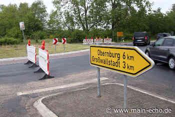 Sperre am Kreisel nach Niedernberg - Main-Echo