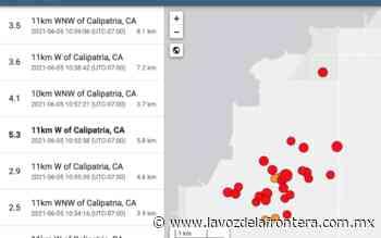 Suman 83 eventos sísmicos en Valle Imperial - La Voz de la Frontera