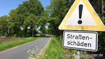 Ab Montag Bauarbeiten; Schierksdamm bis Steinfeld gesperrt - WESER-KURIER - WESER-KURIER
