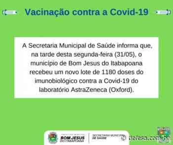 Bom Jesus do Itabapoana recebeu mais 1180 doses da vacina contra a Covid-19 - Defesa - Agência de Notícias
