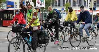 Fahrrad-Demo in Darmstadt und Griesheim gegen Autobahn - Echo Online