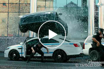 Watch An Aston Martin Vantage Crash Through A Building In Mark Wahlberg's 'Infinite' - CarBuzz