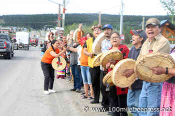 WATCH: Kamloops bound convoy greeted by Canim Lake Band – 100 Mile House Free Press - 100 Mile Free Press