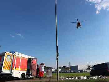 Rettungshubschrauber-Einsatz auf B252 bei Brakel-Bellersen - Radio Hochstift