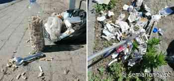Braga. Avenida do Cávado em Palmeira 'carregada' de lixo e resíduos - Semanário V