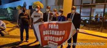 """PT de Trindade realiza ato em solidariedade ao professor Arquidones e pelo """"Fora, Bolsonaro"""" - Revista Fórum"""