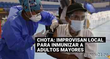 Chota: Improvisan local para vacunar contra el COVID-19 a adultos mayores - Diario Perú21
