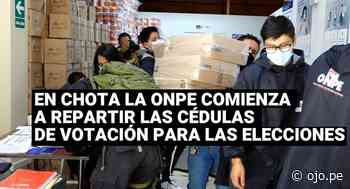 La ONPE de Chota comienza a repartir las cédulas de votación para el domingo - Diario Ojo