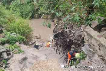 Rescatan a hombre tras caer a barranca en Puebla capital - 24 Horas El Diario Sin Límites Puebla