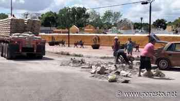 Pobladores rapiñan cemento tras accidente de tráiler en Izamal, Yucatán - PorEsto