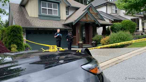Police tape surrounds Port Moody home of homicide victim Trina Hunt - CBC.ca