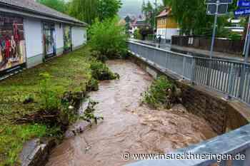 Nach starkem Gewitter - Dutzende Keller laufen voll Wasser - inSüdthüringen