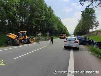 18-Jähriger kollidiert mit Traktor bei Steinheim: 18-Jähriger kollidiert mit Traktor - Westfalen-Blatt