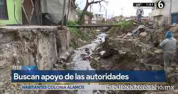 Vecinos de Álamos Vista Hermosa reclaman al ayuntamiento apoyos - Telediario Puebla