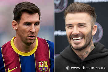 Lionel Messi's new Barcelona contract 'includes agreement to join David Beckham's Inter Miami for two years... - The Sun