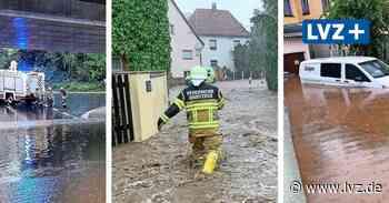 Unwetter im Landkreis Leipzig: Starkregen setzt Grimma und Ort bei Groitzsch unter Wasser - Leipziger Volkszeitung