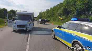 Unfall B76 bei Eutin: Osnabrückerin übersieht Wohnmobil beim Abbiegen – beide Fahrer im Krankenhaus   shz.de - shz.de