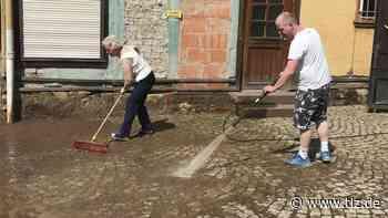 Überflutungen in Ernstroda und Cobstädt nach Gewitter und unwetterartigen Regenfällen - Thüringische Landeszeitung