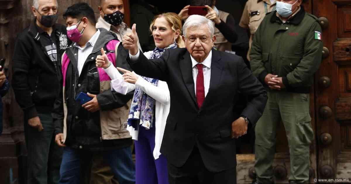 """AMLO elecciones 2021 México. """"¡Qué viva la democracia!"""", grita tras ejercer su voto - Periódico AM"""