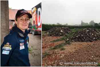Wie stortte puin op site waar Delfine Persoon straks nieuwe bokshal bouwt?