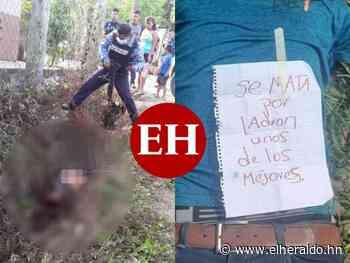 Matan a dos hombres en Santa Bárbara y Copán; dejan rótulo sobre uno de ellos - Diario El Heraldo - ElHeraldo.hn
