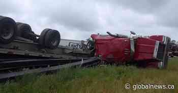 Transport truck driver faces careless driving charge after Quinte West crash - Globalnews.ca