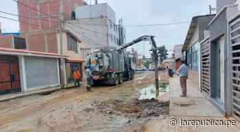 Lambayeque: solucionan rotura de tubería y colapso de desagüe en Chiclayo - LaRepública.pe