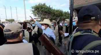 Pedro Castillo arribó con su comitiva a Chiclayo lrnd - LaRepública.pe